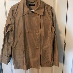 Talbots jacket size medium buttons pockets tan